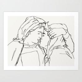 Skam Even & Isak Art Print
