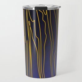 Zebra wild Safari collection GOLD BLUE Travel Mug