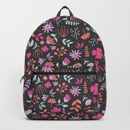 neon pastel flowers Backpack