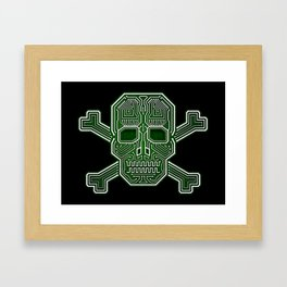 Hacker Skull Crossbones (isolated version) Framed Art Print