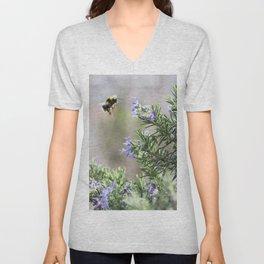 bumble bee flight Unisex V-Neck