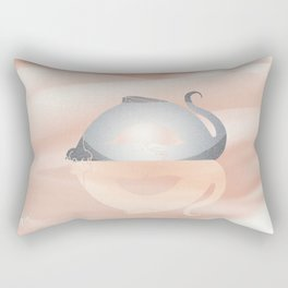 little dragon in his dream illustration  Rectangular Pillow