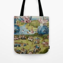 Hieronymus Bosch - The Garden of Earthly Delights - Medieval Oil Painting Tote Bag