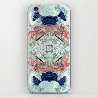 hokusai iPhone & iPod Skins featuring Hokusai Mandala by PatriciaRoberta
