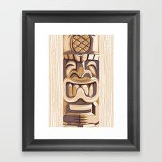 Happy Tiki Framed Art Print