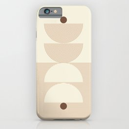 Geometric lines in Shades of Coffee and Latte 6 (Sunrise and Sunset) iPhone Case