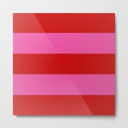 Valentines Day Wide Horizontal Stripes #2 Metal Print
