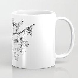 Birds on a flowering branch Coffee Mug