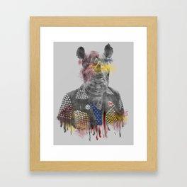 Rhino punk Framed Art Print