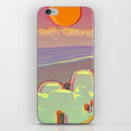 Red Moon Summer Vibrations iPhone Skin