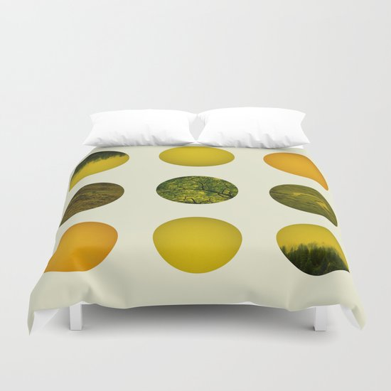 Earth Dot Pattern Duvet Cover