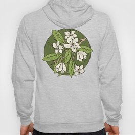 Sakura Branch Pattern - Greenery Hoody
