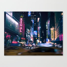 Neon Signs in New York, USA / Night City Series Canvas Print