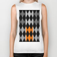 orange pattern Biker Tanks featuring Pattern orange by LoRo  Art & Pictures