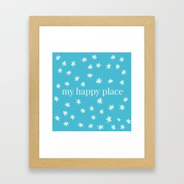 My Happy Place Daisies Framed Art Print