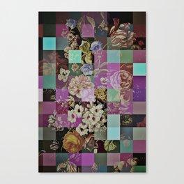 Floral quilt Canvas Print