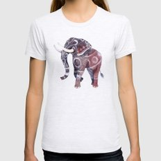 Elephant Ash Grey Womens Fitted Tee MEDIUM