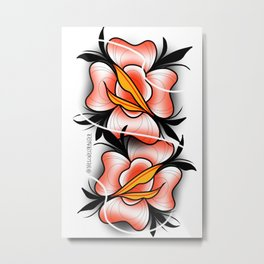 2 faced rose Metal Print