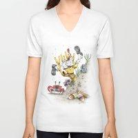 spongebob V-neck T-shirts featuring Real Life SpongeBob by onez