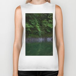 A Magical Pool in the Forest Biker Tank