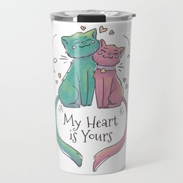 Cats Love Travel Mug