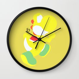 Yoshi(Smash)Yellow Wall Clock