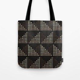 Layered Geometric Block Print in Chocolate Tote Bag