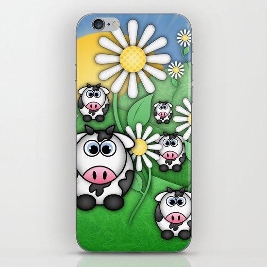 Cows & Daisies  iPhone Skin