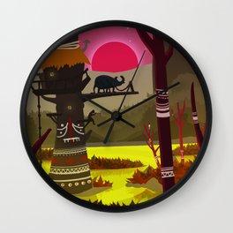 Marshland Beetle Wall Clock