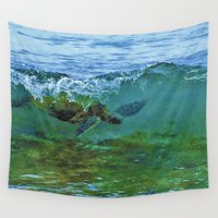 turtle Wall Tapestries featuring Turtle  by Niko