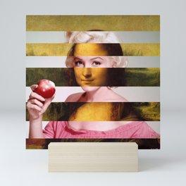 """Leonardo Da Vinci's """"Mona Lisa"""" & M.M. Mini Art Print"""