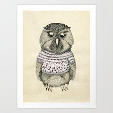 cute owl Art Print