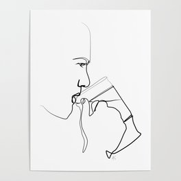""""""" Profile Collection """" - Man Drinking Beer Poster"""