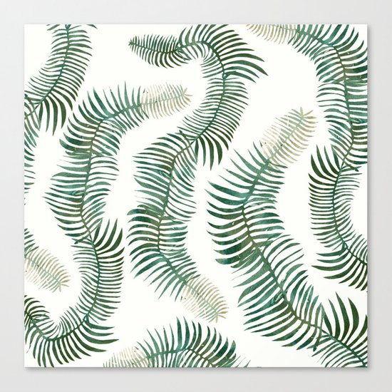 tropical leves wild Canvas Print