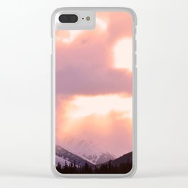 Rose Quartz Turbulence - II Clear iPhone Case