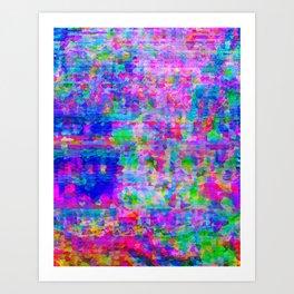Crystallized Glitch Art Print