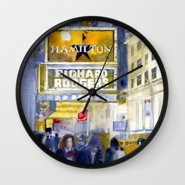 Richard Rodgers - NYC - Broadway - Theater District Wall Clock