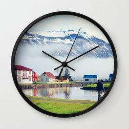 Seydisfjordur, Iceland Wall Clock
