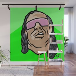 "Bret ""The Gunman"" Hart Wall Mural"