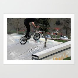 """""""Getting Air"""" - BMX Rider Art Print"""