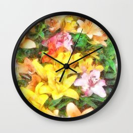 Lilies Love and Light Wall Clock