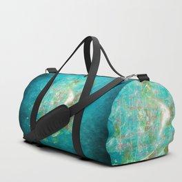 Fractal ghost ship on the azure ocean Duffle Bag