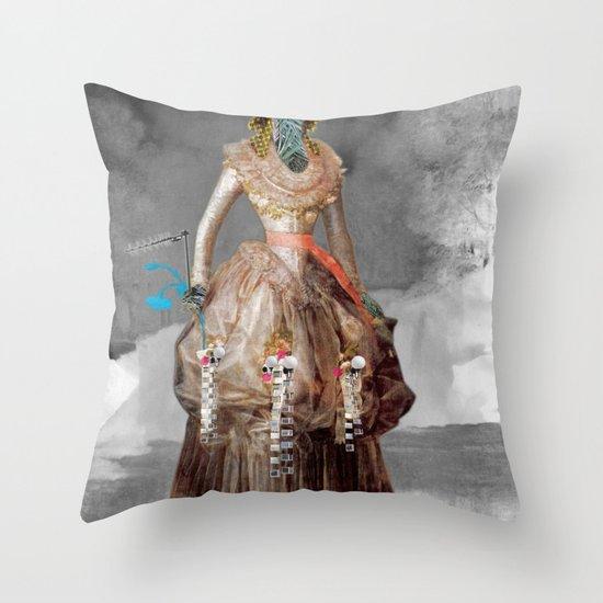 Goya -  Marquesa de Pontejos - Collage Throw Pillow