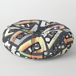 Retro Vintage Cassette Tapes Floor Pillow