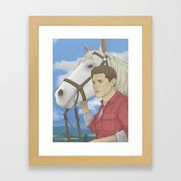 Jensen and Shadow Framed Art Print