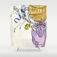 libra Shower Curtains featuring Libra by Cecilia M Creations