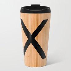 Scrabble Letter Tile - X Metal Travel Mug