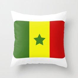 Senegal flag Throw Pillow