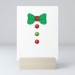 Gingerbread Man Christmas Holiday Costume  print Mini Art Print