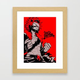 RED RIOT / KIRISHIMA EIJIRO - MY HERO ACADEMIA Framed Art Print